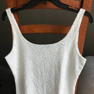 WHBM Cream Lace Eyelet Tank/Cami Top